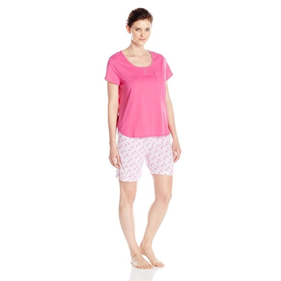 923dadd495 Karen Neuburger Womens 2 Piece Flamingo Pajama Set